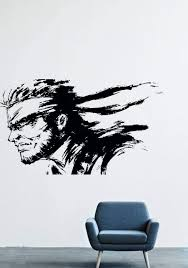 Amazon Com Wall Decals Decor Viny Metal Gear Solid Snake Warrior Soldier Bandage Male Lm0044 Home Kitchen