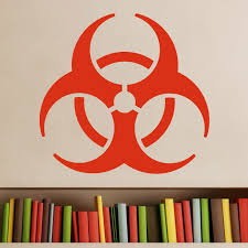 Biohazard Symbol Wall Sticker Decal World Of Wall Stickers