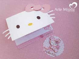 Hello Kitty Convite E Tag Tarjetas De Invitacion Infantiles