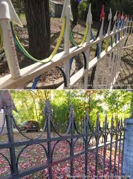 How To Faux Wrought Iron Fence Stolloween Studio Halloween Outside Halloween Deco Halloween Yard Decorations