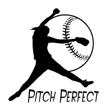 Sports Women Softball Pitch Perfect Wall Decal Living Room Girls Room Decor Vinyl Carving Wall Decal Sticker For Home Window Decoration Wish
