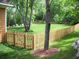 Cedar Picket Lawn And Garden Fence Design Backyard