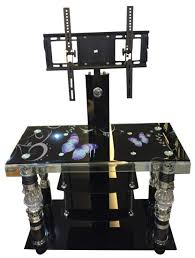 china tempered glass tv stand led stand