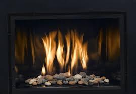 indoor gas fireplace rocks home