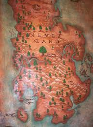 Neverland Map Wall Hanging Bogus Jim Road Studio
