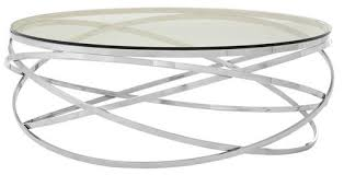 allure round swirl base coffee table by