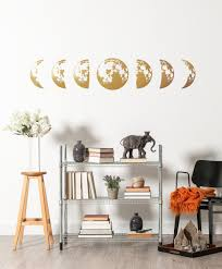Moon Phases Wall Decal Gold Moon Phase Decals Celestial Moon Decor Bohemian Decor Scandinavian Wall Art Lunar Phases Wall Stickers In 2020 Moon Decor Scandinavian Wall Art Wall Decals