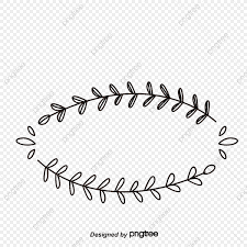 small fresh vines frame vector png