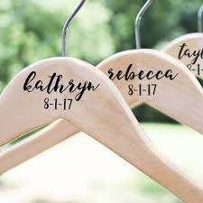 Wedding Hanger Personalized Bridesmaid Hangers Wooden Wedding Hanger The White Invite