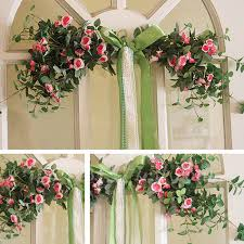 mirror flowers door lintel flower