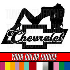 Chevrolet Chevy Bowtie Emblem Sexy Girl Woman Logo Window Vinyl Decal Sticker 4 99 Picclick