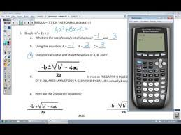 the quadratic formula with a calculator