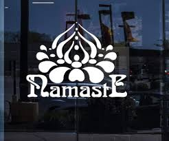 Window Sign Vinyl Wall Decal Namaste Hinduism Yoga Hindu India Sticker Wallstickers4you