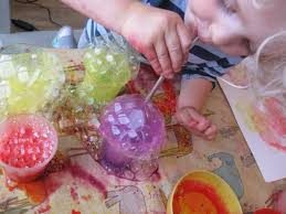 Bubble Painting | Art at the Start