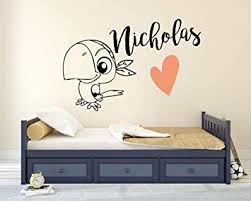 Amazon Com Personalized Name Wall Decal Nice Pirate Parrot Wall Decal Vinyl Sticker Nursery For Home Bedroom Children Baby