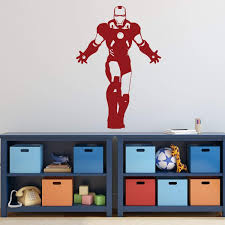 Amazon Com Personalized Ironman Wall Decor Avengers Superhero Silhouette With Custom Name Vinyl Decal Stickers For Birthday Party Decorations Or Boy Bedroom Dark Light Colors Small Large Sizes Handmade
