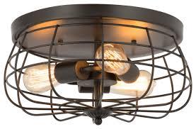 light cage flush mount ceiling light