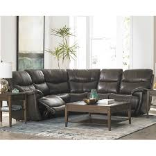 club level brookville leather sectional