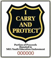 I Carry And Protect Concealed Carry Permit Decals