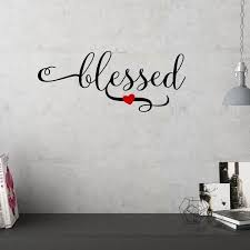 Decal The Walls Blessed With Heart Vinyl Wall Decal Wall Accent Decor Walmart Com Walmart Com
