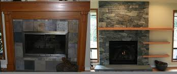 stone fireplace remodel a before and