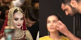 aiman khan s bridal makeup video is