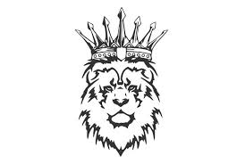 The King Of Lions With A Serious Expression And A Crown Car Decal For Car Window Door Design Art Mural Fa186 Car Stickers Aliexpress