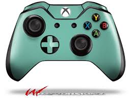 Solids Collection Seafoam Green Decal Style Skin Fits Microsoft Xbox One Wireless Controller Controller Not Included Newegg Com