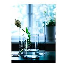 cylinder vase set of 3 clear glass
