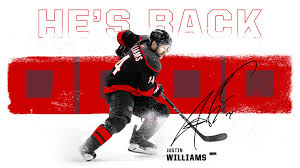 Canes Sign Justin Williams to One-Year Deal