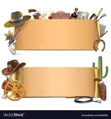 Cowboy Scrolls Vector Image On Festa De Vaqueiro Aniversario