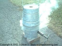 homemade crucible furnace