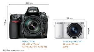 Nikon D700 vs Samsung NX3000 Detailed ...