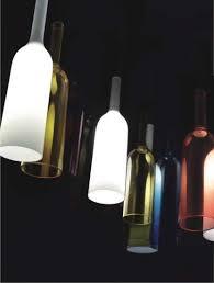 modern bottle glass pendant lamp