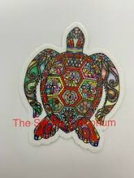 Red Sea Turtle Mandela Sticker Ocean Beach Nautical Sailing Aesthetic Car Decal Ebay