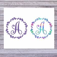 Yeti Cup Decal Single Initial Decal Tumbler Monogram Decal Etsy