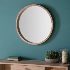 attractive large round mirrors in decors