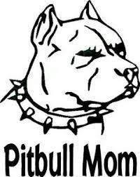 Pitbull Mom With Pitbull With Spiked Collar Vinyl Decal Window Dog Pet Animal Ebay