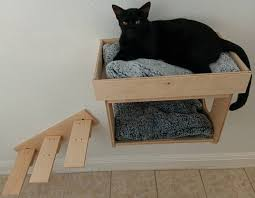 wall mounted cat bed cottage w upper