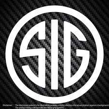 Sig Sauer Circle Logo Vinyl Decal Car Window Bumper Sticker Etsy