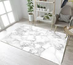 floor rug mat white grey marble