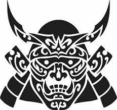 Japanese Samurai Mask Vinyl Sticker Decals Ebay