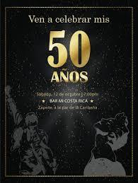 Diseno De Invitacion Digital Cumpleanos Feliz 50 Anos Inspirado