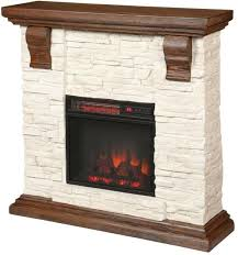 faux stone electric fireplace tv stand