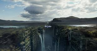 eship apocalyptic city waterfall g