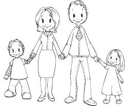 Trên 20+ bức tranh tô màu gia đình dành cho bé tập tô