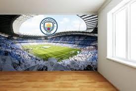 Official Manchester City Born Live Die Wall Sticker Decal Vinyl Mural Man City