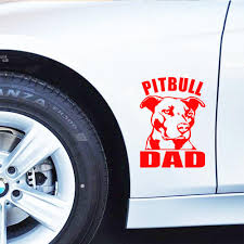 Pitbull Dad Vinyl Decal Sticker Car Window Bumper Wall I Love My Rescue Dog Auto Parts And Vehicles Car Truck Graphics Decals Magenta Cl
