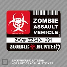 Sorry Officer Zombies Zombie Funny Outbreak Apocalypse Doomsday Sticker Decal Auto Parts And Vehicles Car Truck Graphics Decals Magenta Cl