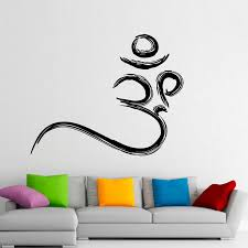 Om Symbol Wall Stickers Buddhism Removable Wall Decals Vinyl Stickers Home Decor Creative Design Stickers Home Decor Home Decordecoration Design Aliexpress